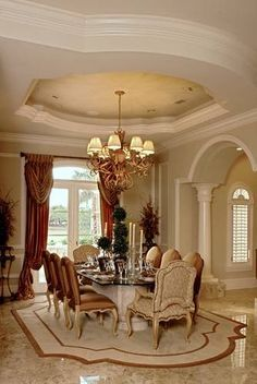 Classy Dining Room Interior Design And Decor Ideas Elegant Dining Room, Luxury Dining Room, Dining Room Design, Dining Room Furniture, Dining Rooms, Dining Table, Furniture Storage, Room Chairs, Furniture Ideas