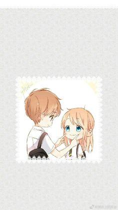 Cute Chibi Couple, Anime Love Couple, Cute Anime Couples, Chibi Boy, Kawaii Chibi, Kawaii Anime, Anime Neko, Anime Manga, Anime Guys