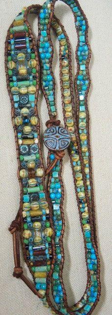 BOARDWALK Turquoise Beaded 5Wrap Leather by BraceletsofBlueRidge