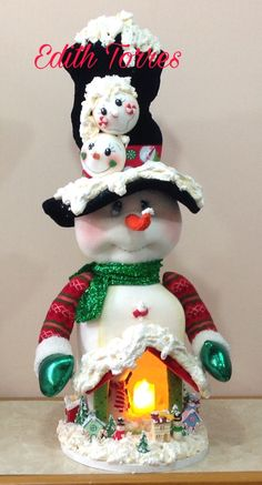 Christmas Fabric, Christmas Ornaments, Cold Porcelain, Gum Paste, Fabric Decor, Cake Toppers, Snowman, Holiday Decor, Simple