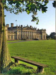 Classical Britain - Harewood House - robin denton Designed by the. Shared by Motorcycle Fairings - Motocc English Manor Houses, English Castles, English House, Neoclassical Architecture, Classic Architecture, Harewood House, Castle House, Le Palais, Grand Homes