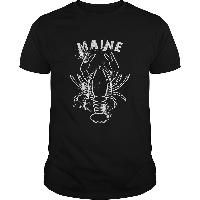 Maine Lobster Distressed Retro T Shirt