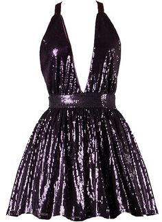 Marilyn Shimmer Dress: Features a chic halter neckline with ribbon ties behind the neck, plunging V-neckline, thousands of sparkling sequins covering the entire dress, and a flirty A-line skirt to finish. Halter Dress Short, Plunging V Neck Dress, Short A Line Dress, Short Dresses, Prom Dresses, Sparkly Cocktail Dress, A Line Cocktail Dress, Cocktail Dresses, Nye Dress