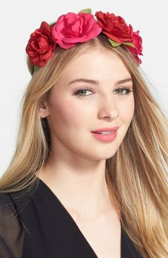 Berry 'Floral Crown' Head Wrap | Nordstrom