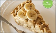 banana peanut butter pie- made with stevia!