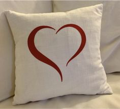 Diy Valentine's Pillows, Red Throw Pillows, Cushion Cover Designs, Cushion Covers, Christmas Pillow Covers, Christmas Applique, Heart Pillow, Home And Deco, Decoration