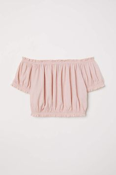 Off-the-shoulder Top - Antique rose - Ladies H M Outfits, Crop Top Outfits, Cute Girl Outfits, Summer Outfits Women, Outfits For Teens, Pretty Outfits, Casual Outfits, Spring Outfits, Crop Tops For Kids
