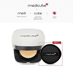 Medicube Red Cushion Foundation 15g with REFILL 15g  perfect cover  trouble acne care  21 Light Beige ** Want to know more, click on the image. (This is an affiliate link and I receive a commission for the sales)