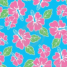 Seamless Hibiscus Pattern by Kelly Hironaka, via Dreamstime