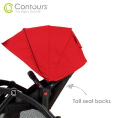 Our new #ContoursBaby tandem stroller now has taller seat backs to better accommodate a growing toddler!