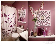Purple bathroom. Summer project!