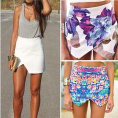 Faldas irregulares, nos encantan... sobre todo para un viernes como hoy ;) #revistainkomoda #moda #faldas #revista
