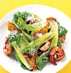 Recipe: Caesar Salad with Spicy Shrimp and Tortilla Croutons - Recipelink.com
