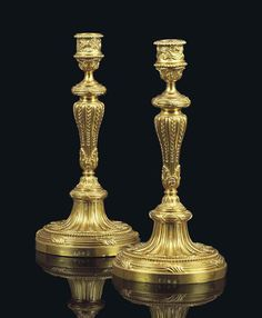 Pair of Royal Louis-Philippe ormolu candlesticks, circa Candelabra, Candlesticks, Dining Room Furniture Design, Traditional Lamps, Architecture Details, Lanterns, Sconces, Candle Holders, Carving