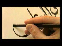 Calligraphy Thuluth circle by world famous calligraphist Khurshid Gohar Qalam - YouTube