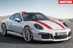 Porsche 911 R white with red