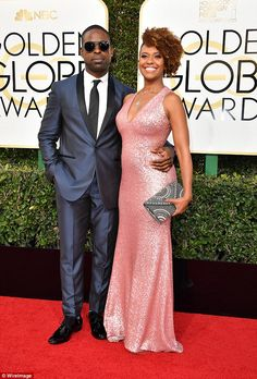 Red hot romance! Sterling K. Brown, 40, made his grand entrance with his stunning actress wife Ryan Michelle Bathe, 40, by his side