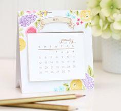 Easy Easel Calendar   Damask Love Blog