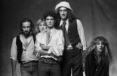 Fleetwood Mac Black and white Photo shoot By Norman Seeff 1978