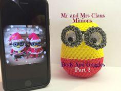 Rainbow Loom BODY Mr and Mrs Claus Minions (PART 2) - Loomigurumi - Amigurumi Hook Only