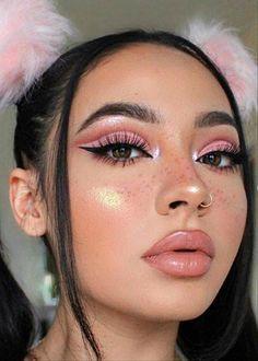 Piercing and cute makeup - ChicLadies.uk - Piercing and cute makeup – ChicLadies.uk Piercing and cute makeup – ChicLadies. Cute Makeup Looks, Makeup Eye Looks, Eye Makeup Steps, Pretty Makeup, Beauty Makeup, Hair Makeup, Pink Makeup, Gorgeous Makeup, Colorful Makeup