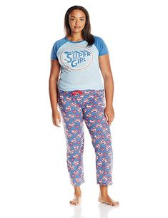 7ff07bd17b Supergirl Juniors Plus Pajamas Set (Teen Adult)  Feeling like an extra  powerful woman  If so you re probably in need of this super girl PJ set.