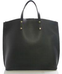 Černá kožená kabelka do ruky ItalY Sydney černá