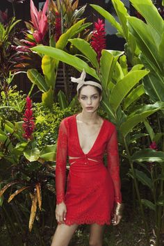 Our Sunset Mini Dress in Cherry Red | For Love & Lemons Spring 2015 Look Book