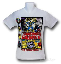 Images of Infinity Gauntlet Thanos Battle 30 Single T-Shirt