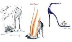 #Cinderella 2015 shoes Jimmy #Choo, Salvatore #Ferragamo, Jerome #C.Rousseau