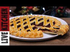 Χριστουγεννιάτικη! Πάστα Φλώρα - Στο Γιορτινό σας Τραπέζι - Strawberry jam tart recipe - YouTube Best Pie, Greek Recipes, Kitchen Living, Waffles, Sweets, Breakfast, Desserts, Youtube, Food