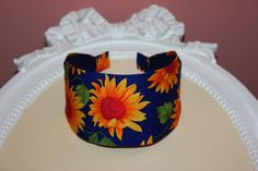 Sunflower head covering women cotton hairband fabric headband scarf, adjustable fabric headband for medium and large head size, more widths Fabric Headbands, Turban Headbands, Headband Scarf, Sunflower Head, Headbands For Women, Earmuffs, Hair Accessories For Women, Hair Band, Cover