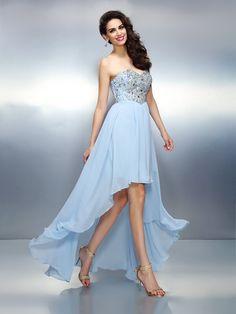 754d55773ad1 A-Line/Princess Sweetheart Ruffles Sleeveless Asymmetrical Chiffon Cocktail  Dresses