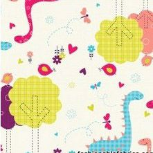 Fabric... Baby Dino Dinosaur Family on Cream by Camelot Cottons
