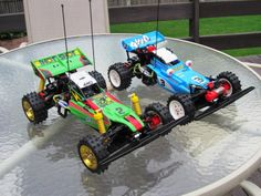 Tamiya Super Hotshot and Hotshot Rc Buggy, Rc Radio, Radio Control, Tamiya, Rc Cars, Toys For Boys, Big Boys, Scale Models, Reptiles