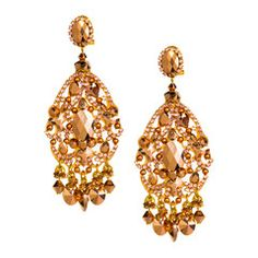 These special earrings by Spanish high fashion accessory design house, DUBLOS…