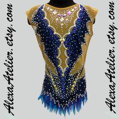 Leotard for Competition (Rhythmic Gym, Ice Figure Skating, Acrobatic Gym) 1706 Rhythmic Gymnastics Leotards, Figure Skating, Skate, Competition, Unique, Ice, Model, How To Make, Outfits