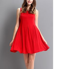 Another great find on #zulily! Red Tie-Back Shift Dress #zulilyfinds