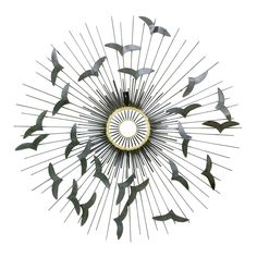 5bd89619d2a65 Moes Home Collection Flying Birds Wall Sculpture - An illuminating scene of  birds circling the sun is captured in the steel workmanship of this Moes  Home ...