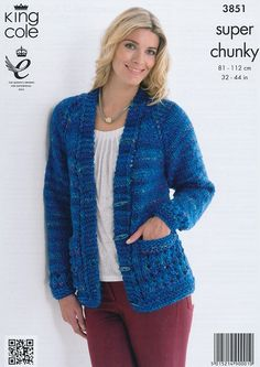 Tunic and Cardigan in King Cole Super Chunky (3851)   King Cole Knitting Patterns   Knitting Patterns   Deramores