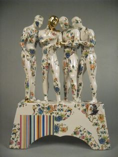 Pierre Williams - Home/Figurative ceramic sculpture with decoration inspired by the tin glaze tradition.