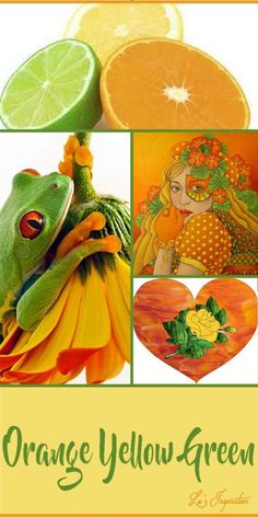 """Hi Ladies Thanks for all the great pins today. Beautiful board as always. Next up let's pin a color trio of """" ORANGE YELLOW AND GREEN """" Thanks again and Happy Pinning. ❤"""
