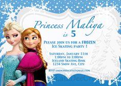 Frozen Birthday Invitation / Printable Digital File