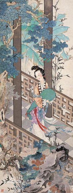 Xu Cao(徐操) yishu  huihua guohua gongbi renwu