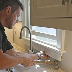 Backsplash tile tips: If the tile will go around any windows, remove the apron molding from below the stool. This eliminates complicated cuts and leaves a cleaner finished look. | FineHomebuilding.com