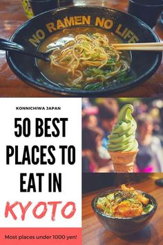 50 Best Places to Eat in Kyoto – most places under 1000 yen! Kyoto Japan, Okinawa Japan, Japan Trip, Tokyo Trip, Japan Sakura, Japan Japan, Japan Travel Guide, Tokyo Travel, Japan Holidays