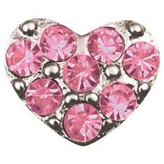 Pink Puffy Heart - Origami Owl Lockets are perfect Bridesmaids gifts