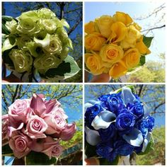 #Rainbow #wedding #flowers - so much fun! www.perfectweddingflowers.com