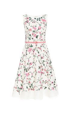 Embroidered Silk Dress by Oscar de la Renta - Moda Operandi