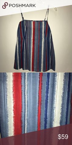 Marc By Marc Jacobs Women's Tank Top NWT Marc By Marc Jacobs Women's Tank Top NWT.    Blue, White, Red  New with Tags Side Zipper Spaghetti Straps 100% cotton Marc By Marc Jacobs Tops Tank Tops